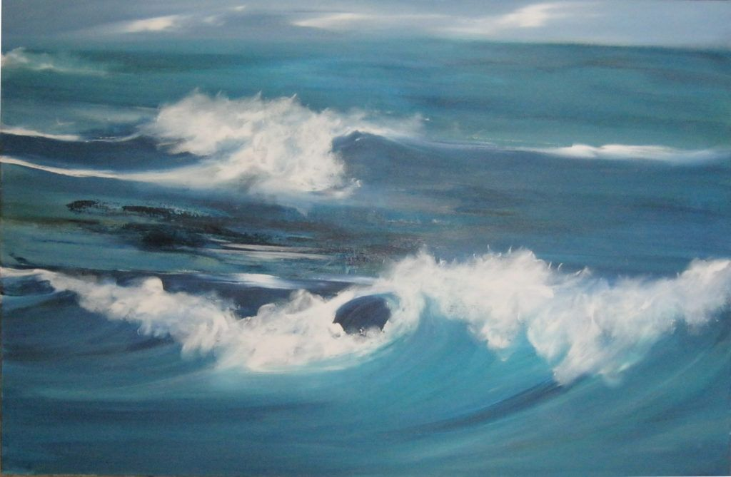 Wellen Iii Acryl Auf Leinwand 65 X 100 Cm Malerei Wellen