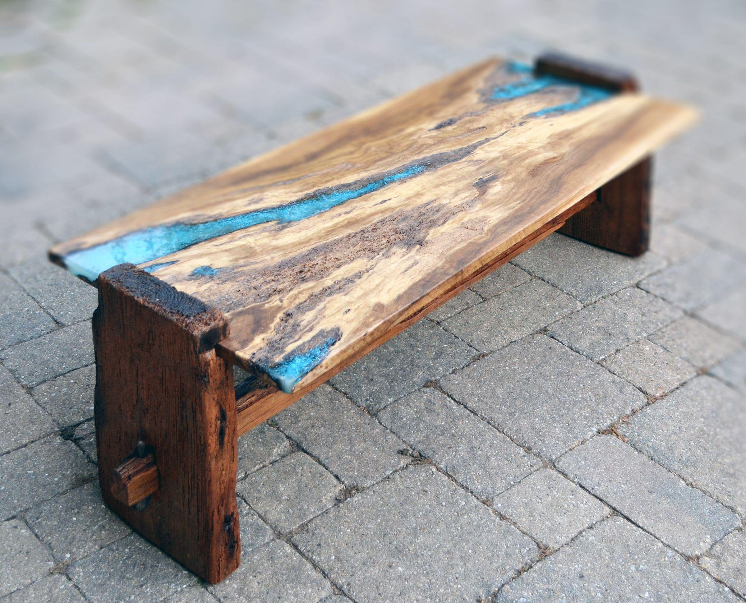 Live Edge Rustic Oak Coffee Table With Epoxy Resin Inlay Rustic Oak Coffee Table Coffee Table Coffee Table Farmhouse [ 1940 x 2400 Pixel ]