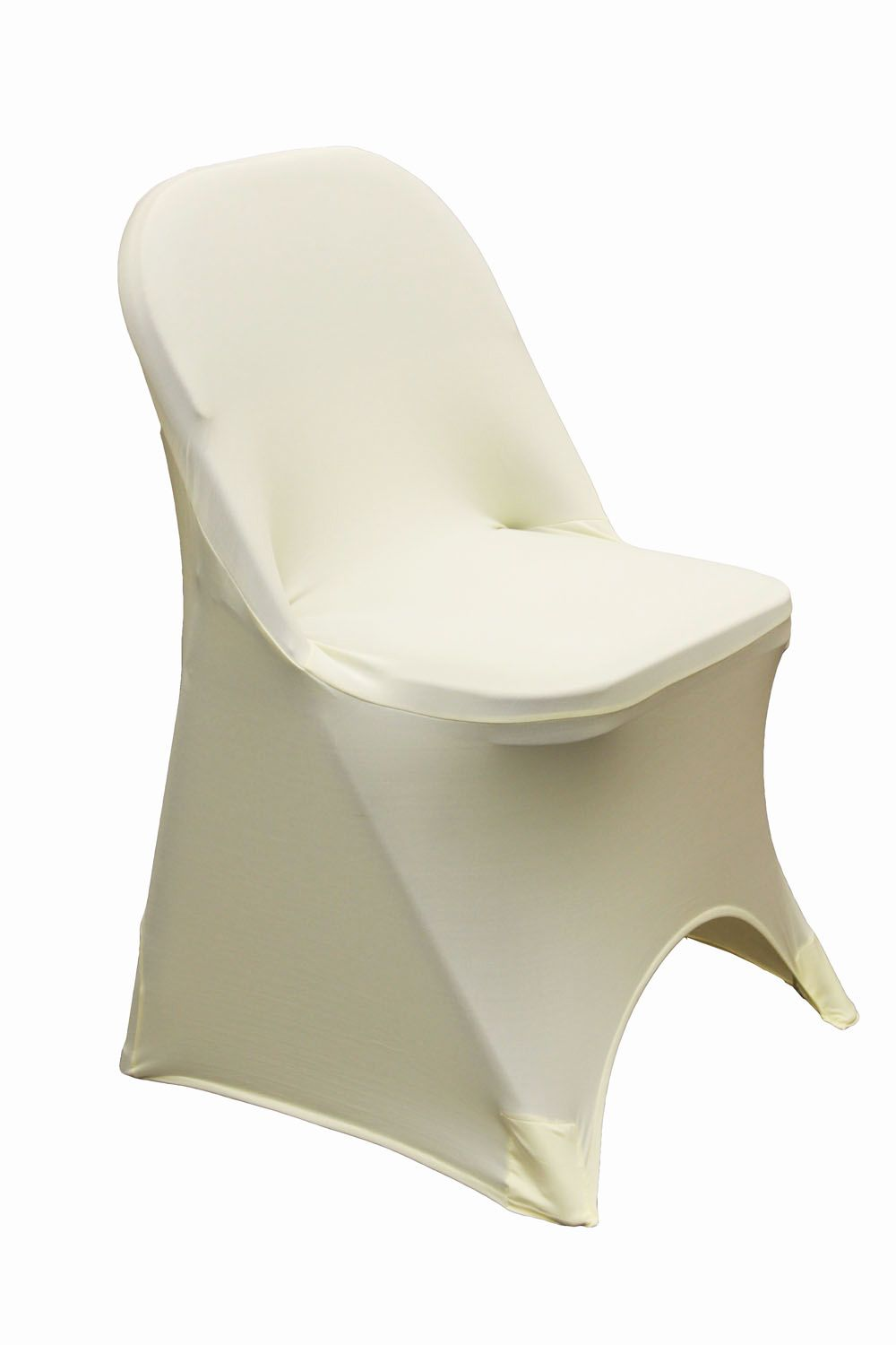 Folding Spandex Chair Cover Ivory | Metal folding chairs