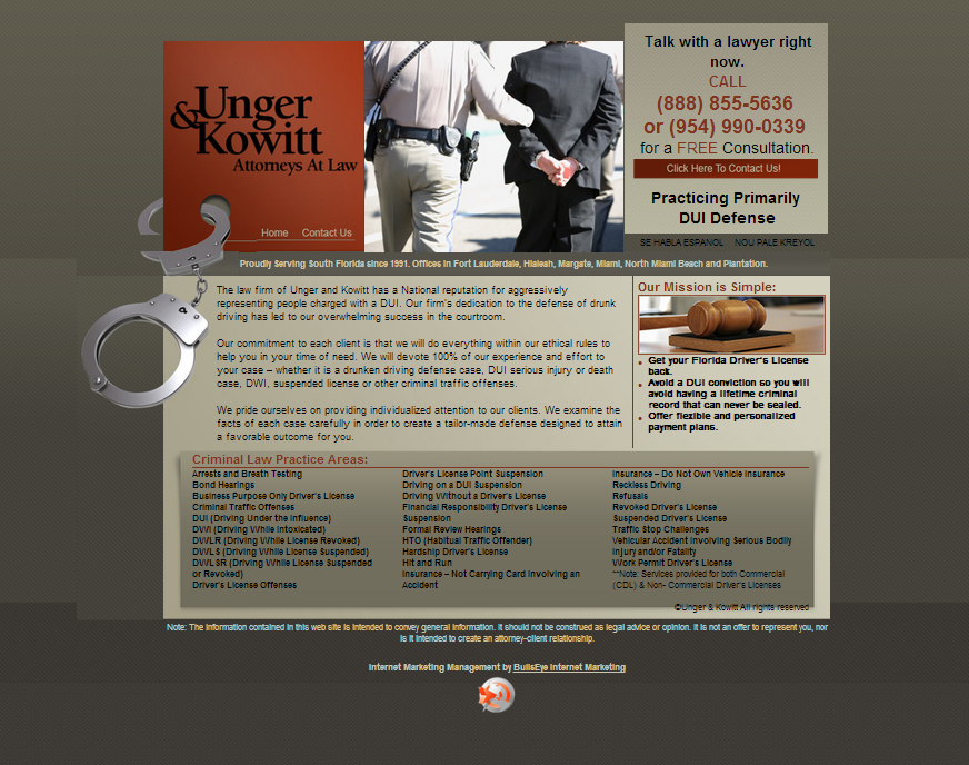 Example Of Optimized Website Created For Law Firm Client With