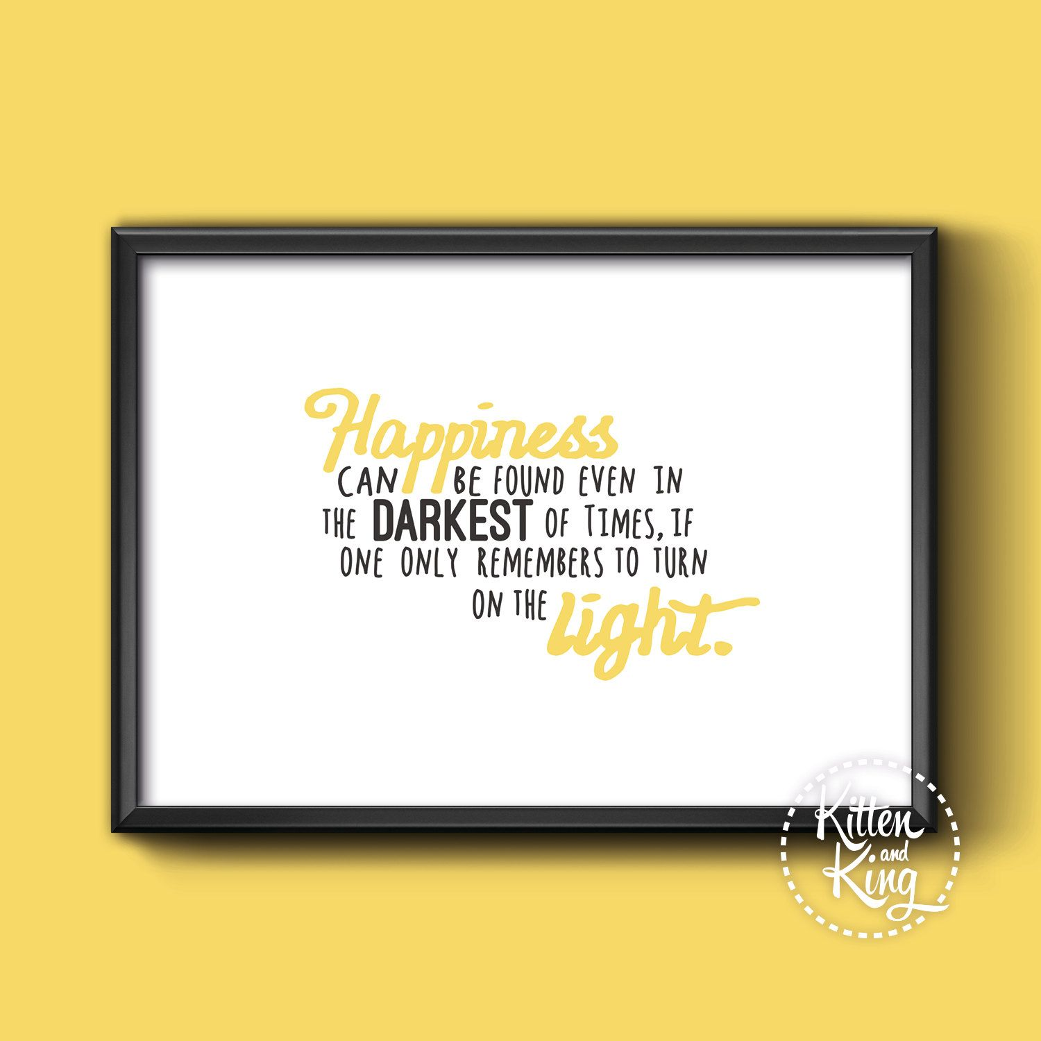 Harry #Potter Quote Dumbledore   A4, A3 and A2 Wall Art # Happiness ...