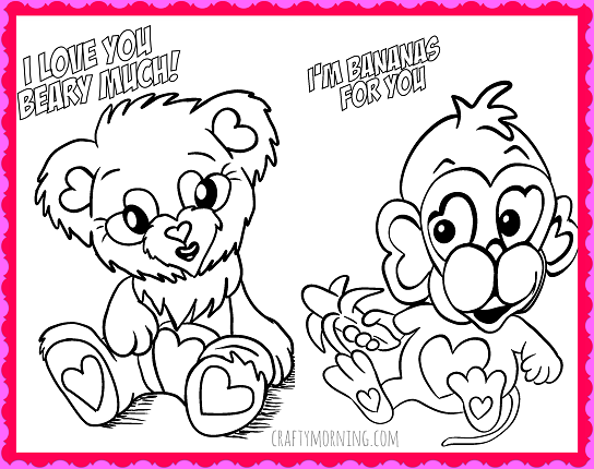 Free printable valentine coloring pages for kids free printable valentines day coloring pages crafty morning
