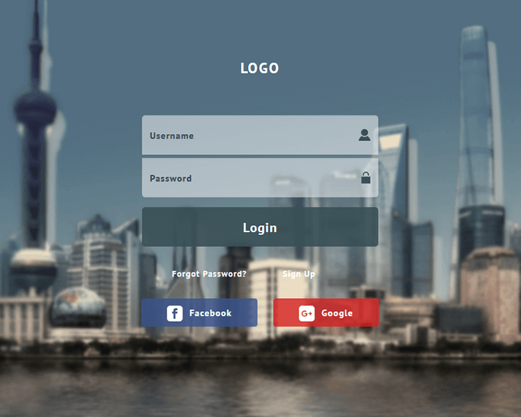 free download this simple login form web page template for your