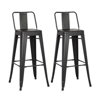Dovercliff Bar Counter Stool Metal Counter Stools Farmhouse Bar Stools Metal Bar Stools