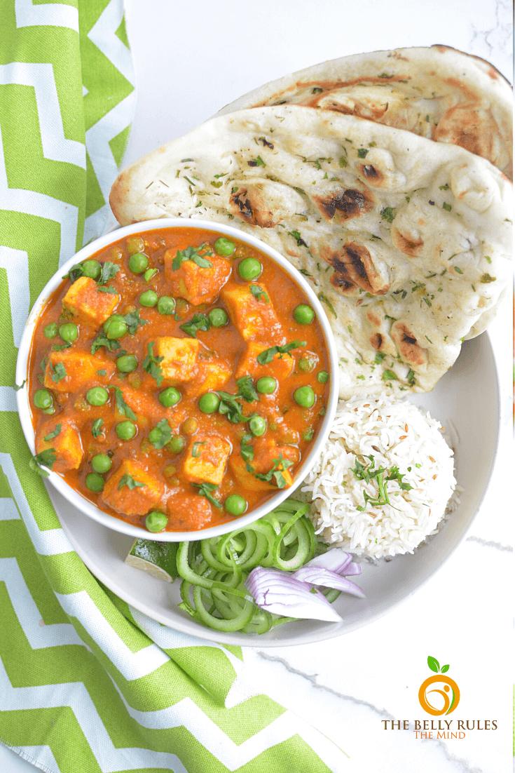 Easy Matar Paneer Video Recipe Thebellyrulesthemind Recipe In 2020 Vegetarian Breakfast Recipes Recipes Vegetarian Instant Pot