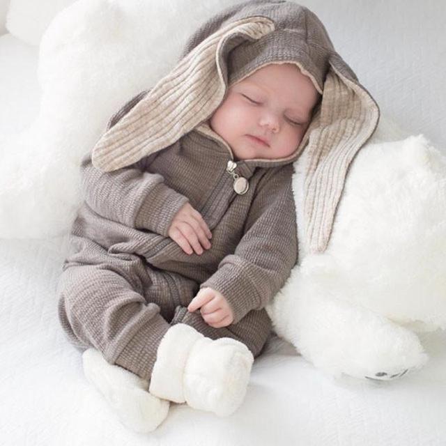 Ropa de bebé Niño Bebé Recién Nacido Lindo Oso de Dibujos Animados Mono A Cuadros  Mameluco Trajes Set de Una sola pieza Traje de Mameluco … 1e1d8583d95