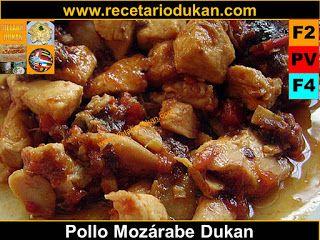 Recetas y Dieta Dukan: Pollo Mozarabe dukan