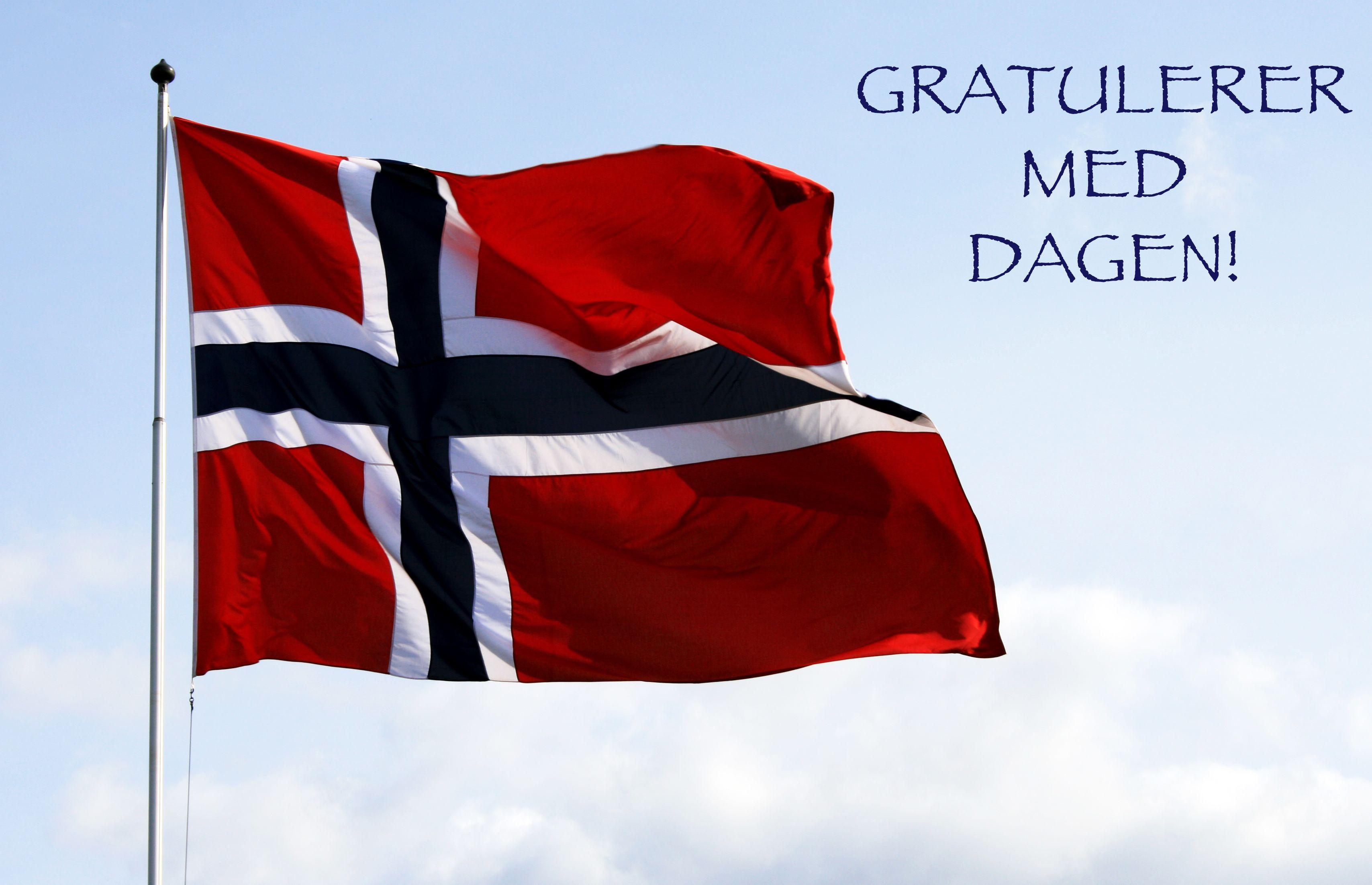 Открытка с днем рождения на норвежском