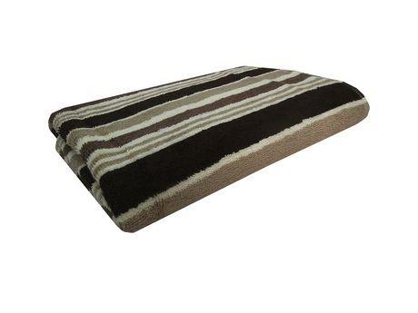 Mainstays Performance Stripe Bath Towel Brown 27 X 48 Blue Towels Bath Towels Towel