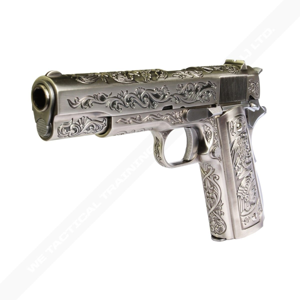 WE 1911 Custom - Engraved Model (Silver) | WE Airsoft Hong ...