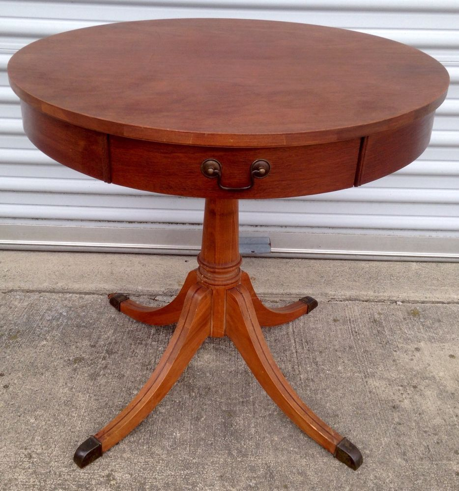Duncan Storage Coffee Table: VINTAGE MID CENTURY MERSMAN 7493 DUNCAN PHYFE STYLE DRUM