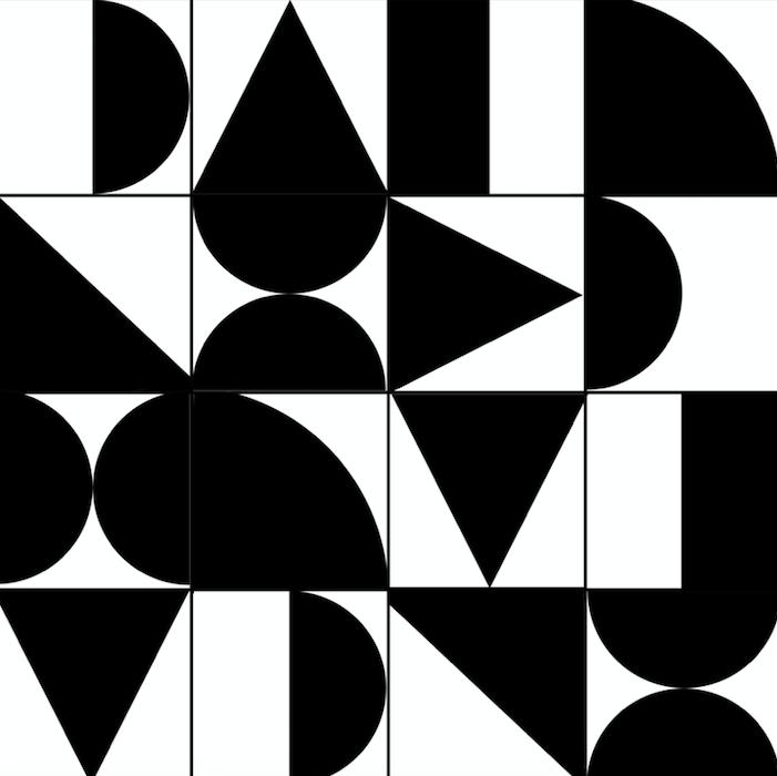 Photo of Abstract Geometric Black & White – Standard Vinyl / Sample / Sample