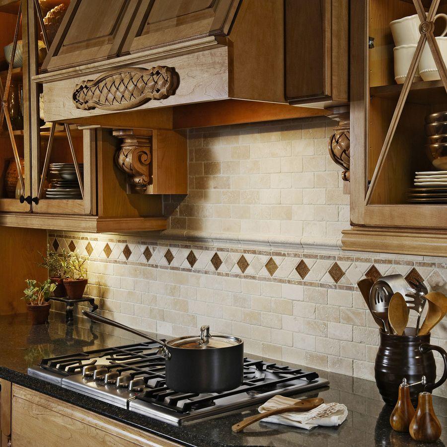 Travertine Kitchen Backsplash: Shop Anatolia Tile Chiaro Tumbled Marble Natural Stone