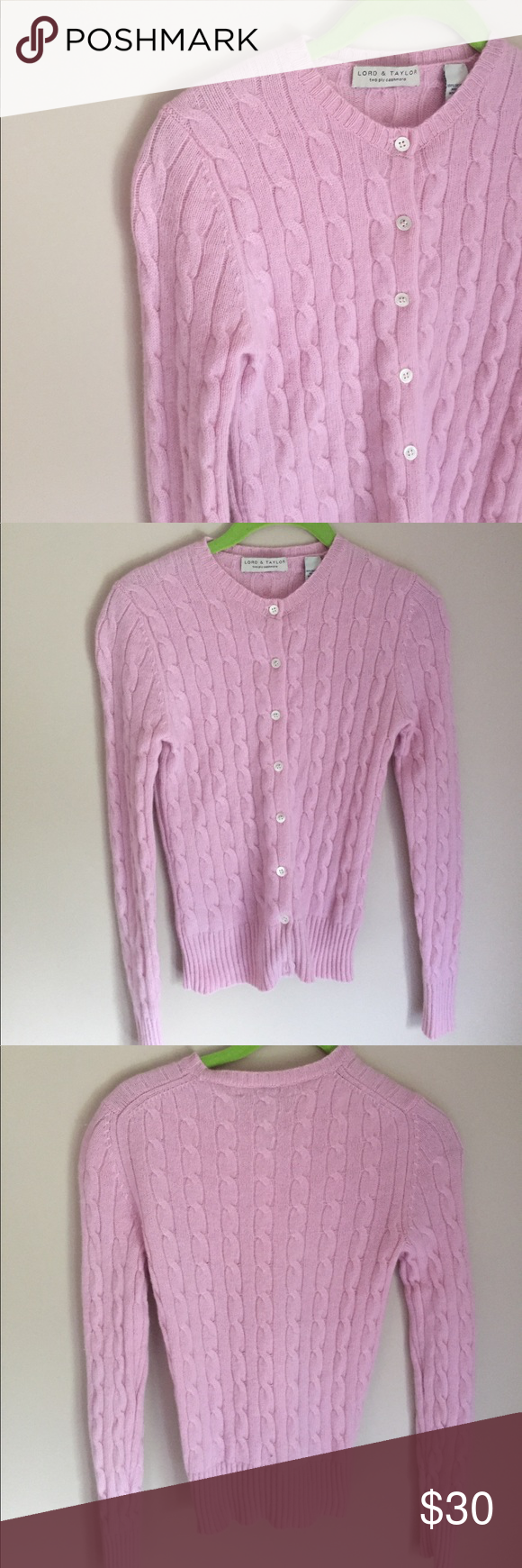100% Cashmere lord and taylor pink sweater small | Cashmere ...