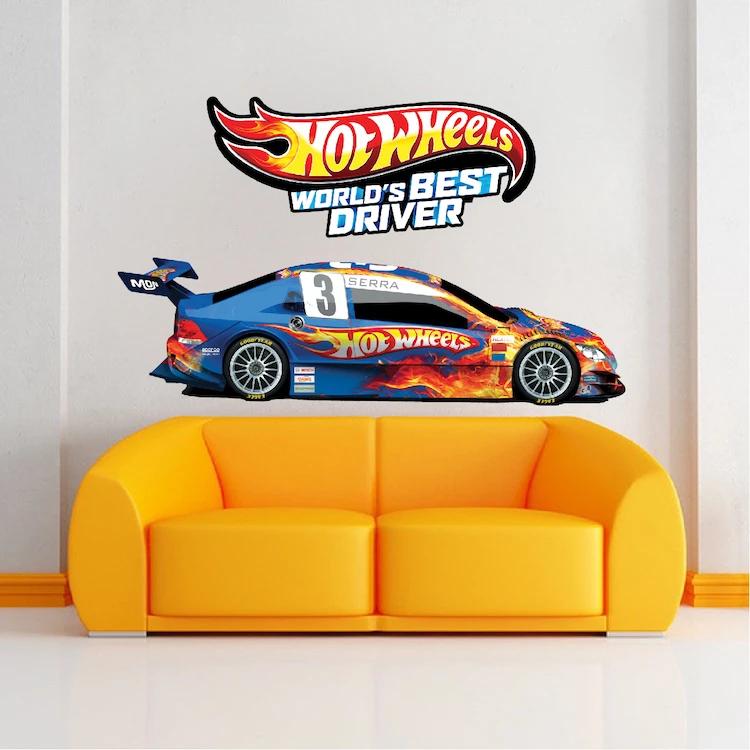 Race Car Boys Wall Decal Kid's Racing Decor Wall Art for