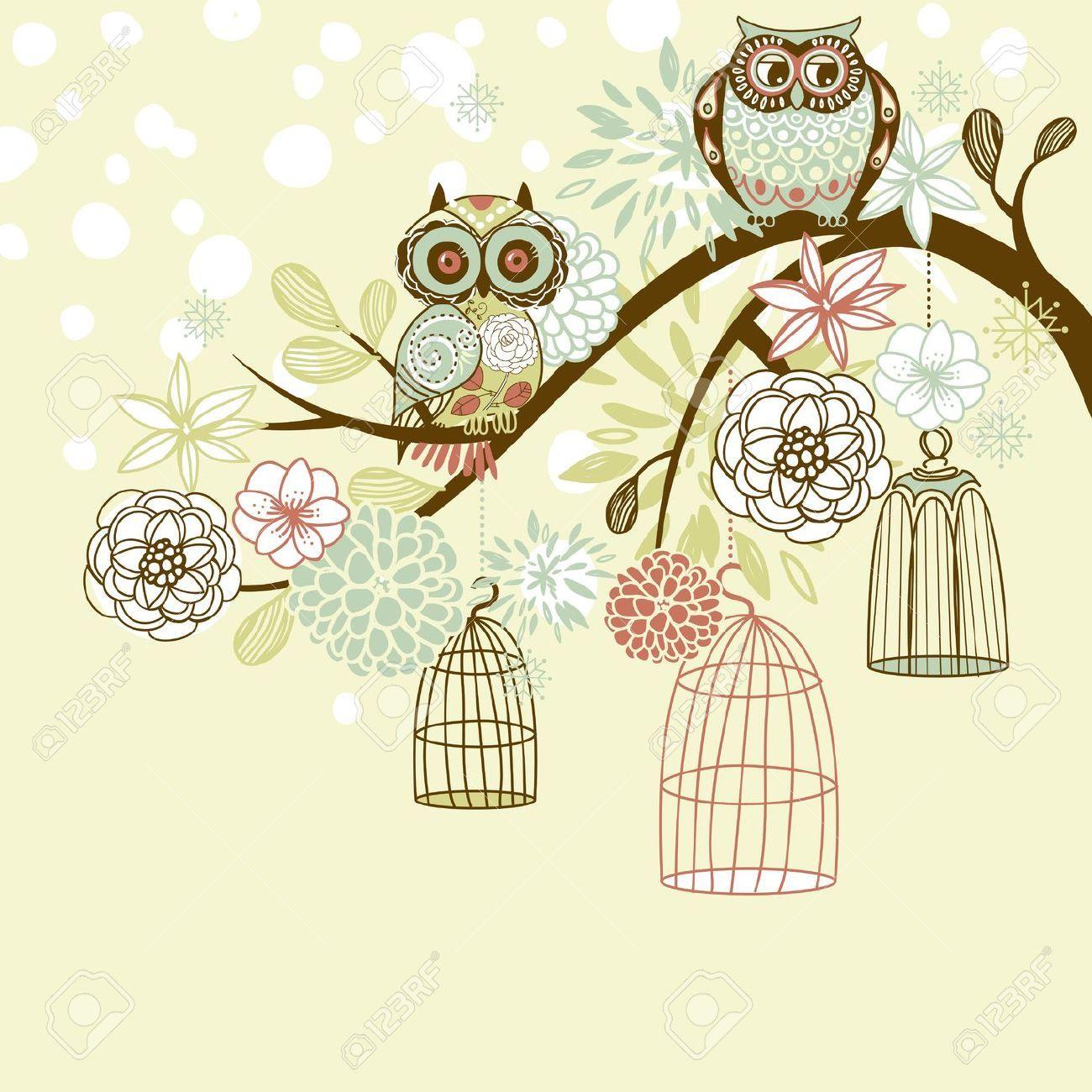 Vintage Owl Desktop Wa...