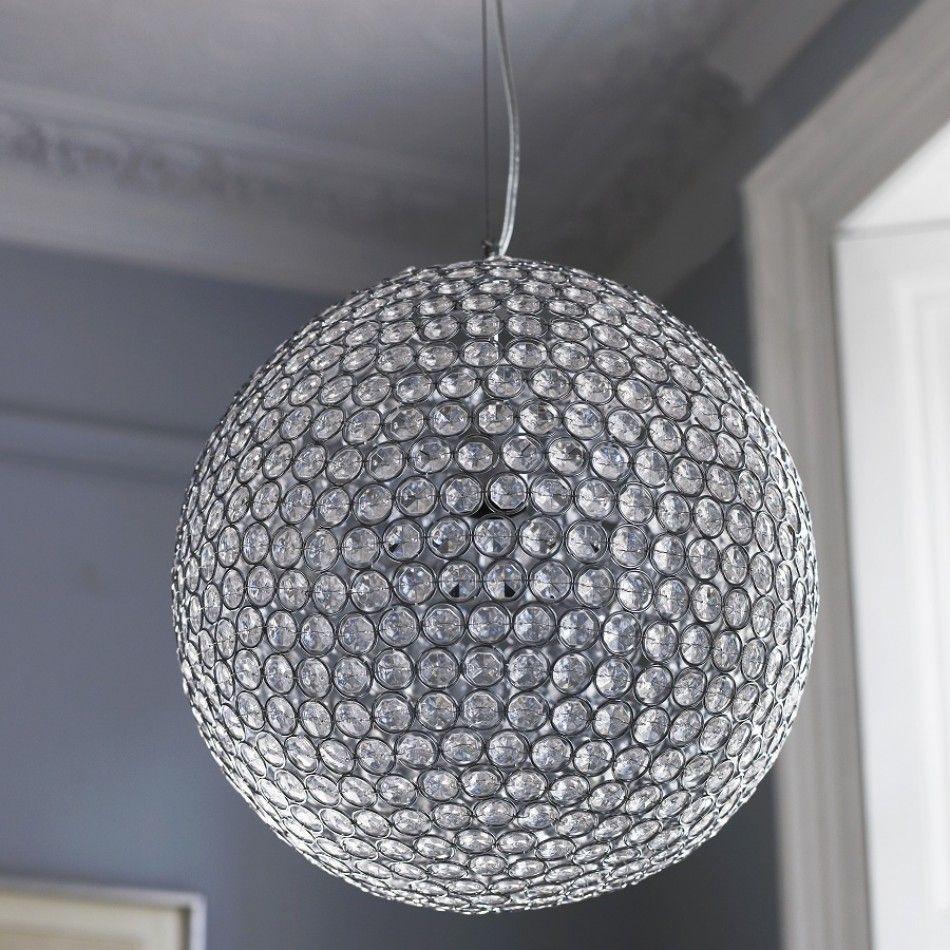 Large Sparkling Ceiling Pendant Light