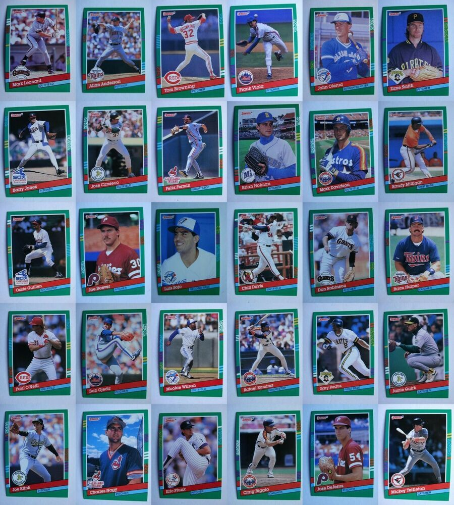 1991 donruss baseball cards complete your set you u pick