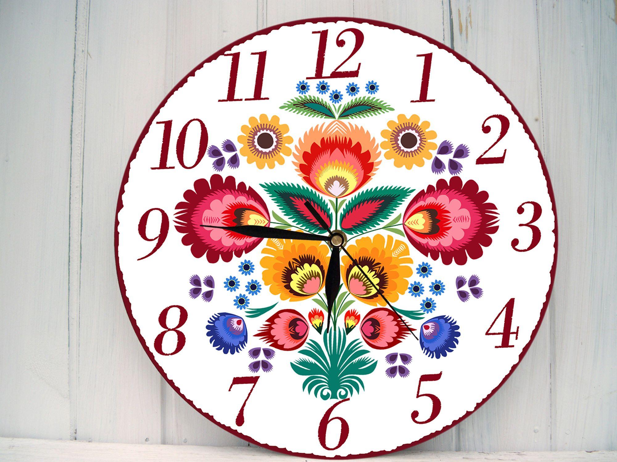 Zegar Scienny W Stylu Folk 4876613496 Oficjalne Archiwum Allegro Clock Wall Clock Art