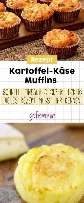 Kartoffel-Käse-Muffins: Dieses Rezept ist sooo cheesy! #fingerfoodrezepteschnelleinfach
