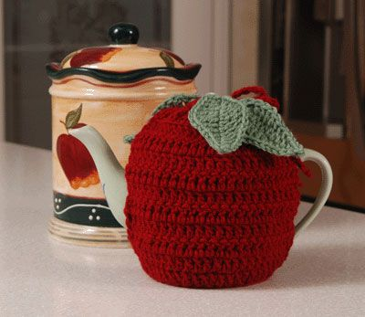 Olde Time Apple Teapot Cozy Crochet Pattern 400 On Crochet