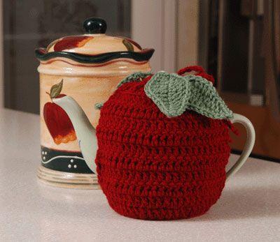 apple teapot cozy