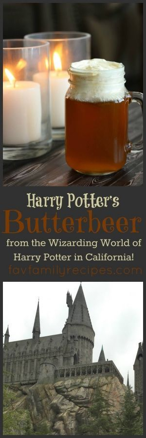 Harry Potter Butterbeer and the Wizarding World of Harry Potter via @favfamilyrecipz #butterbierrezept Harry Potter Butterbeer and the Wizarding World of Harry Potter via @favfamilyrecipz #butterbierrezept