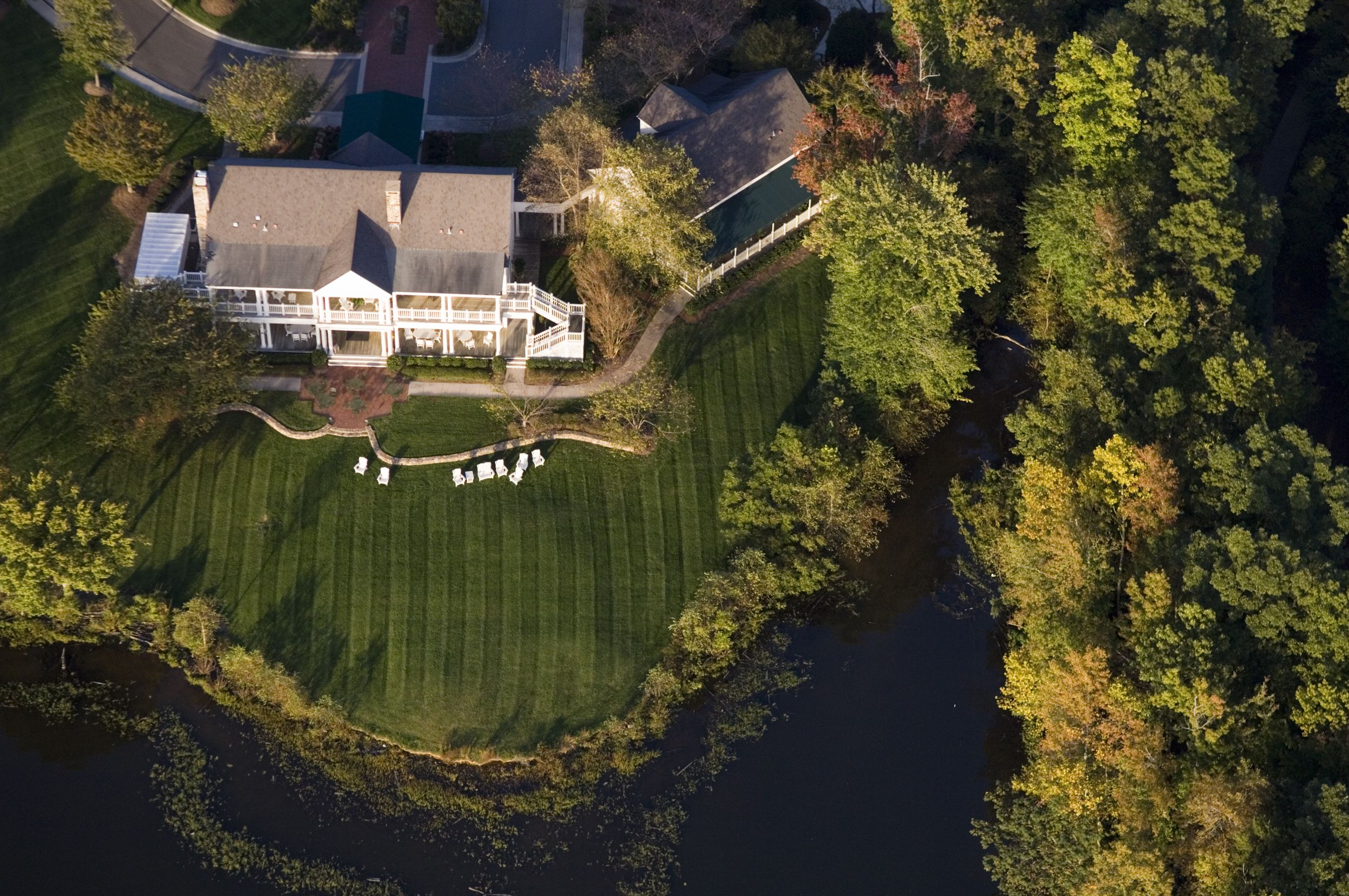 The Lodge At Old North State Club Aerial View