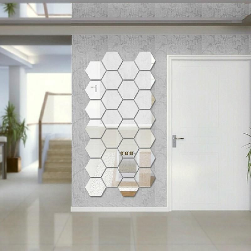 Self Adhesive Mirror Tiles For Walls Hexagonal Mirror Tiles