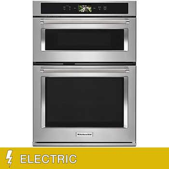 Kitchenaid 5 0cuft Electric Smart Oven With Even Heat True Convection And Microwave Oven With Conve Convection