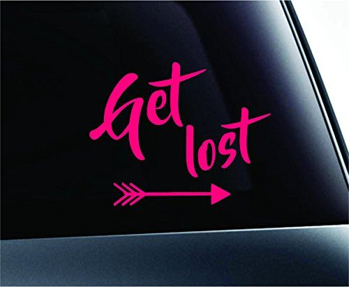 Get Lost Text Arrows Hiking Camping Outdoor Computer Laptop Symbol Decal  Family Love Car Truck Sticker