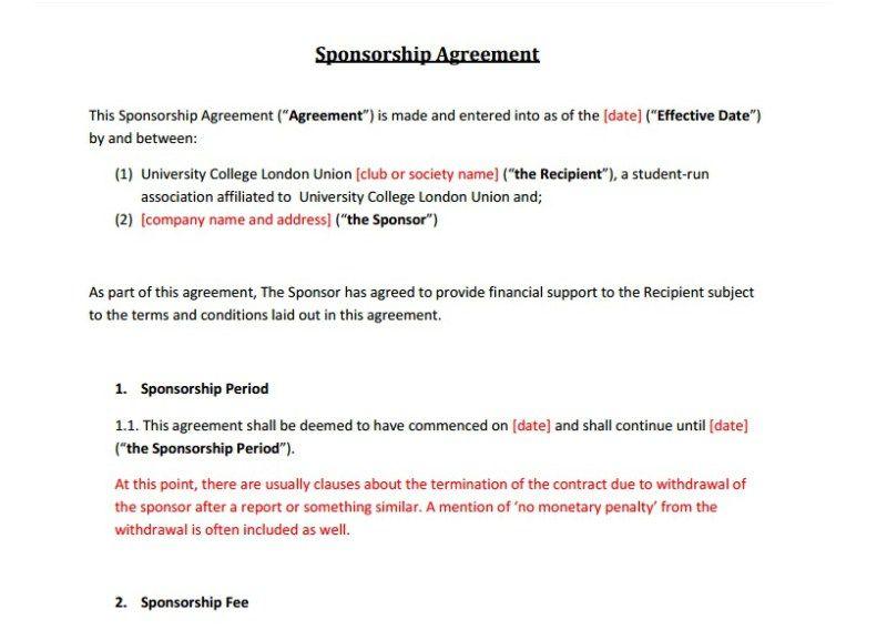Sponsorship Contract Golon Wpart Co