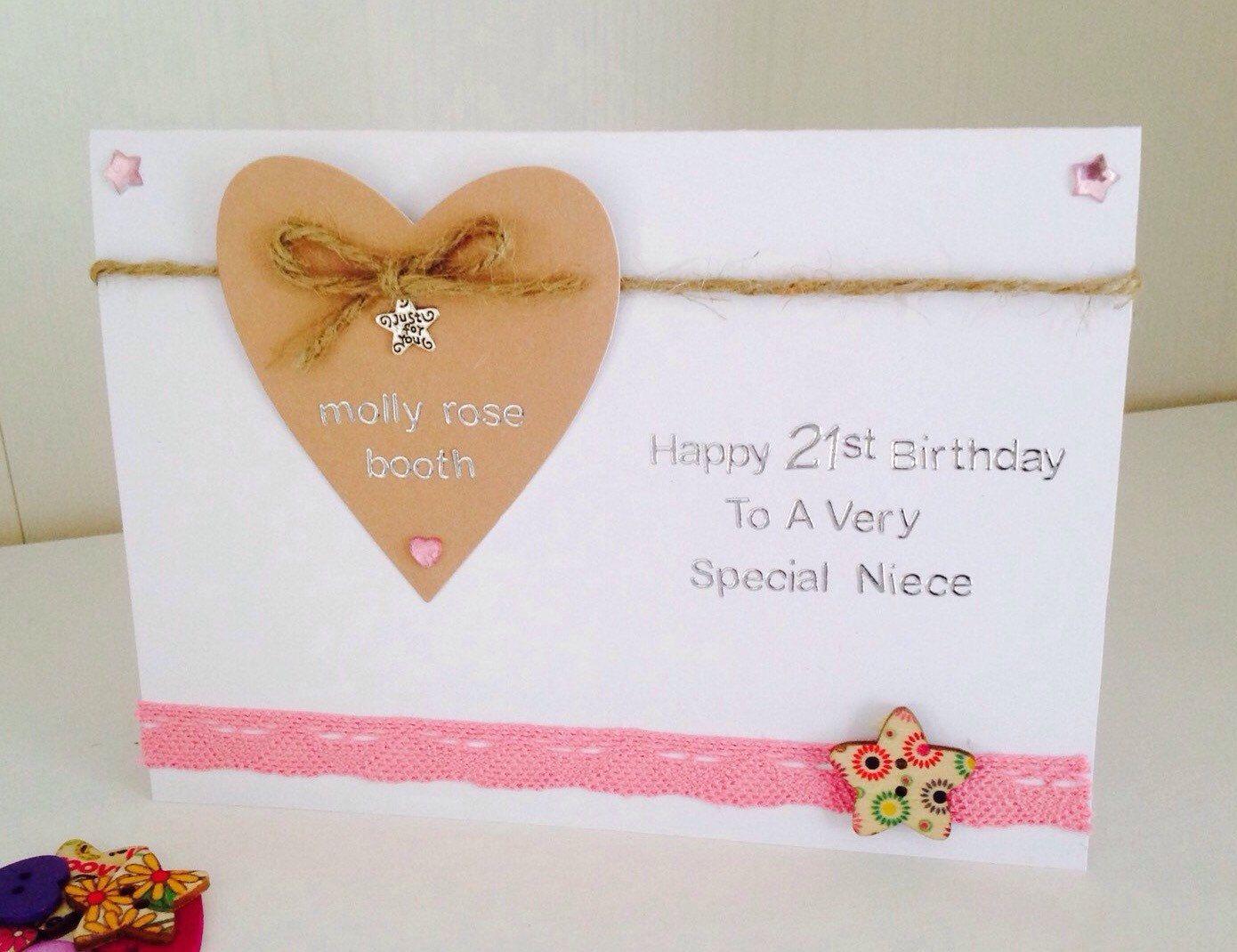 Personalised handmade birthday card 21st birthday card 18th personalised handmade birthday card 21st birthday card 18th birthday bookmarktalkfo Choice Image