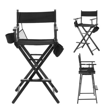 Tall Professional Executive Director Chair With Side Table And Side Bag Chair Directors Chair Foot Rest