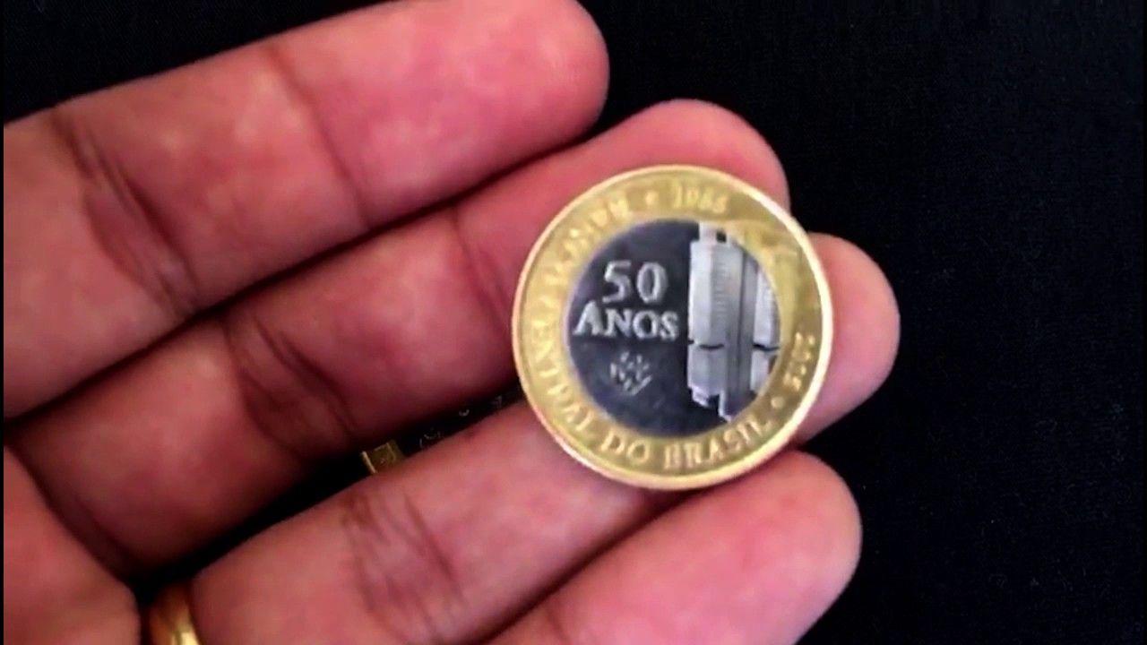 Moeda Rara Dos 50 Anos Do Banco Central Do Brasil Com Imagens