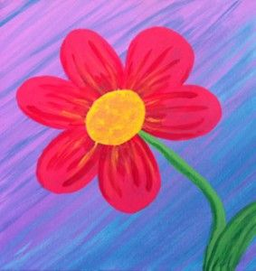 easy flower paintings for kids google search - Kids Painting Images