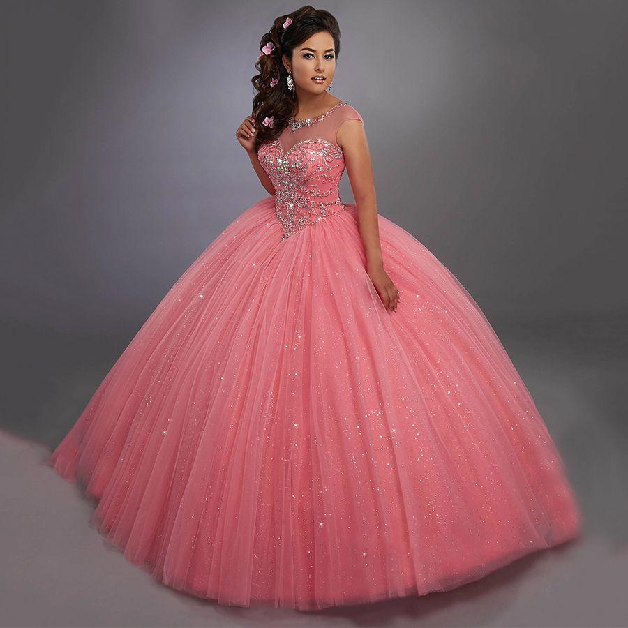 Resultado de imagen para vestidos de 15 años 2017 rosa palo | 15 ...
