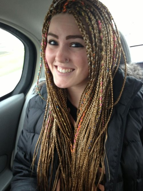 White Girls With Micro Braids Braids Pinterest Dreads Dread