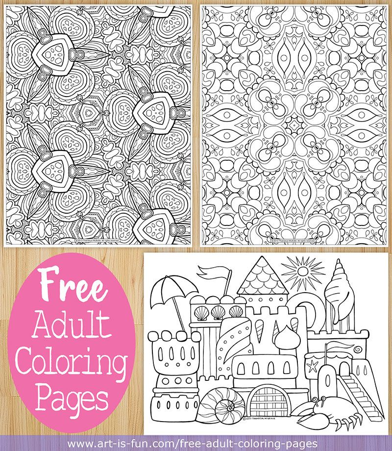 free adult coloring pages art by thaneeya mcardle - Coloring Pages Art