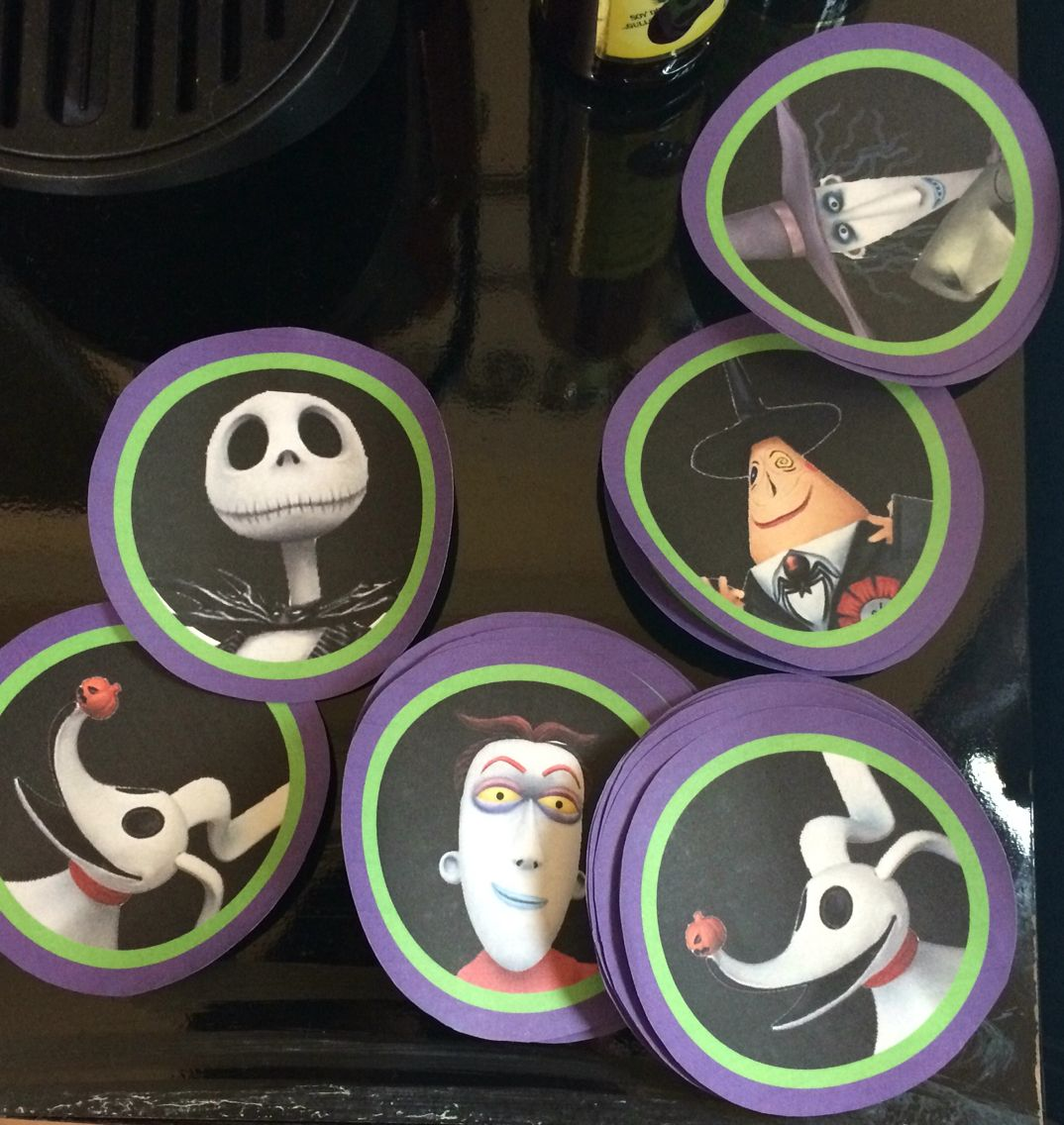 Coaster creation   Nightmare Before Christmas - Theme Party ...
