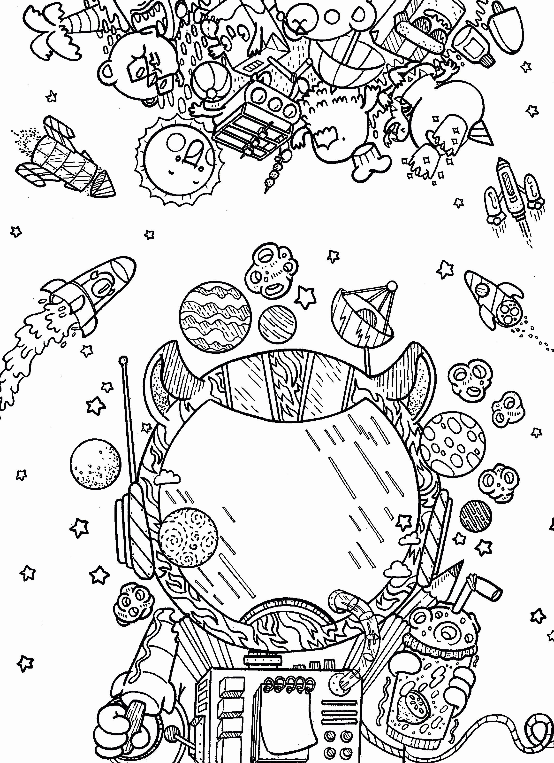 Space Coloring Worksheets With Images