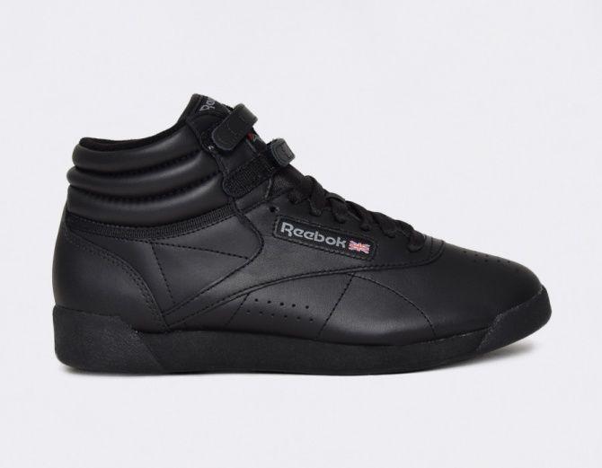 Reebok Freestyle Hi Black #sneakers | moda | Zapatillas y Ropa