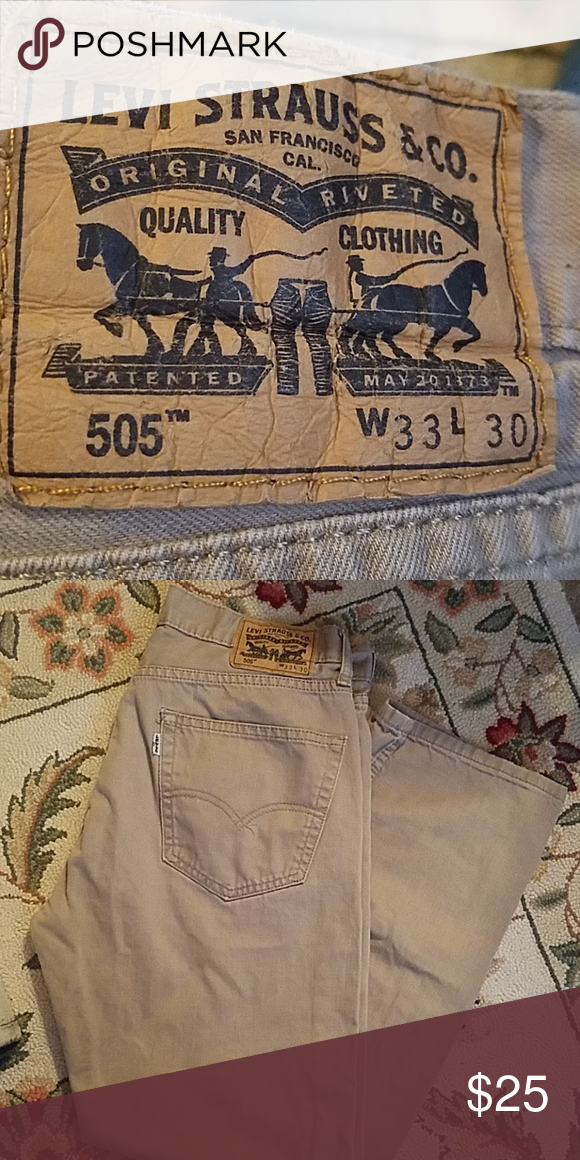 338009a0d47a71 Popular Pins · Khaki colored Levi jeans. Really nice Levi's jeans khaki  colored. The 505™ Regular