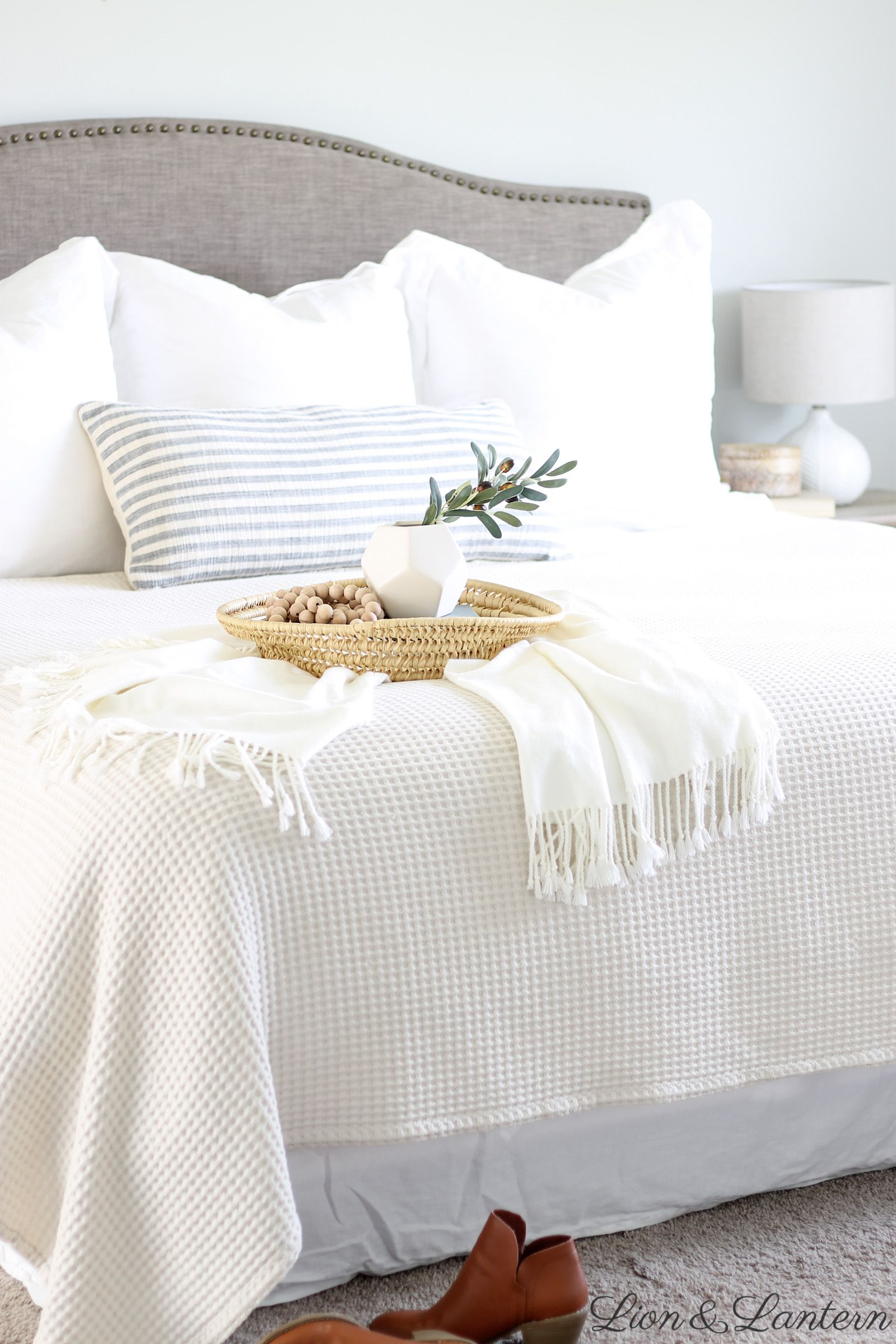 Modern Coastal Master Bedroom at