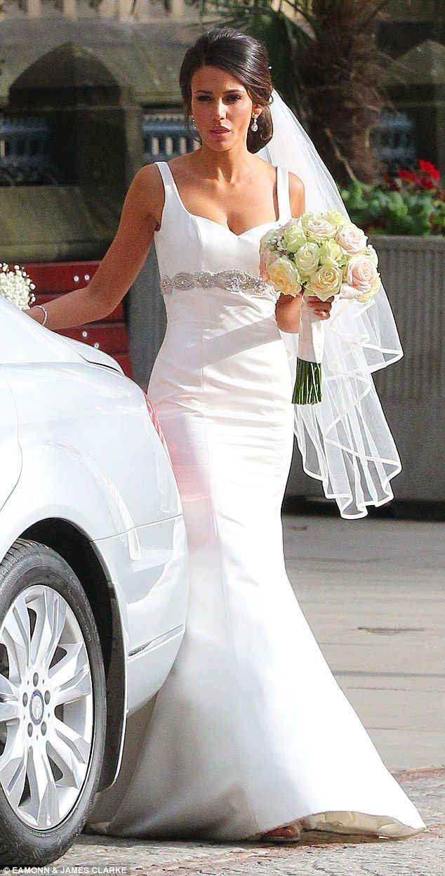 Michelle keegan is a bride once more while filming our for Michelle keegan wedding dress