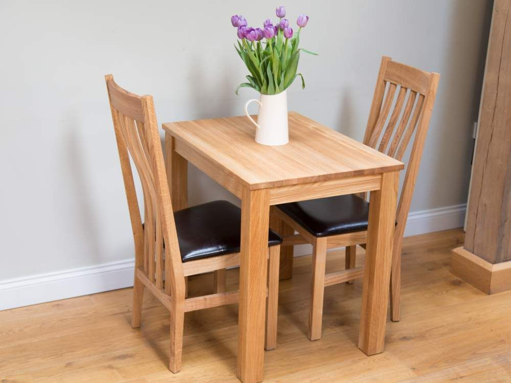 Small Solid Oak Dining Table 2 Seater Kitchen