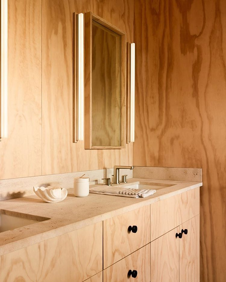 Simple And Natural Materials Were Used At Our Inlet House To Echo