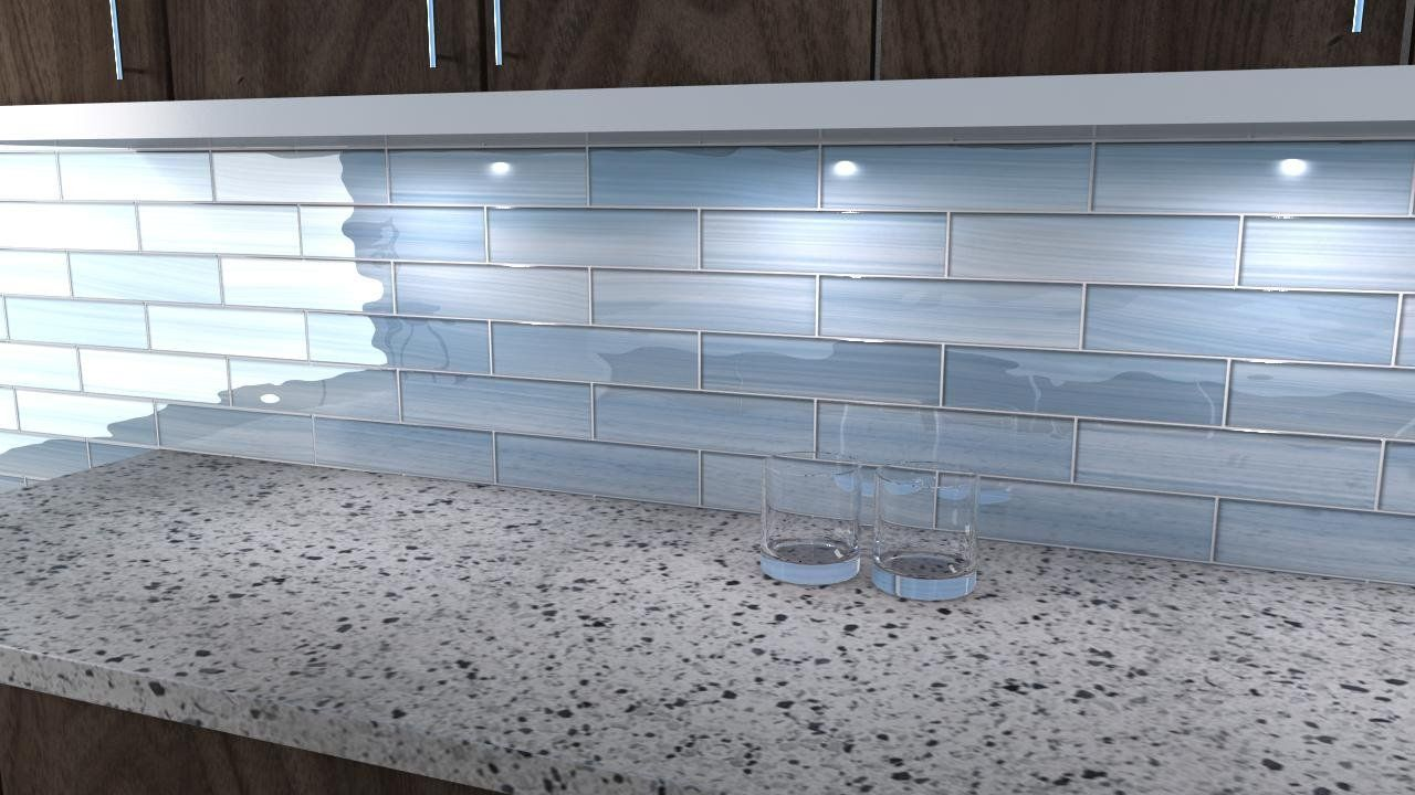 Big Blue 3x12 Glass tile Perfect for Kitchen Backsplashes and ...