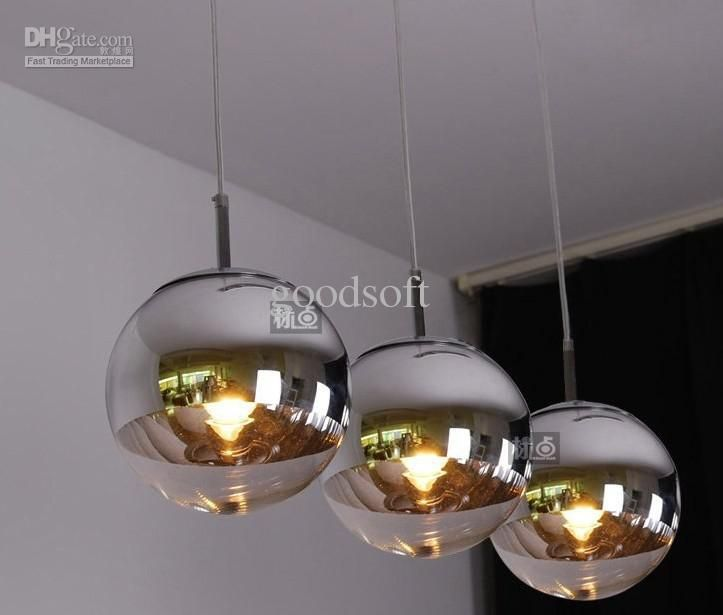 Great Dinning Room Pendant Lamp,plated Glass Ball Pendant Lights,modern Pendant  Lighting Tom Dixon