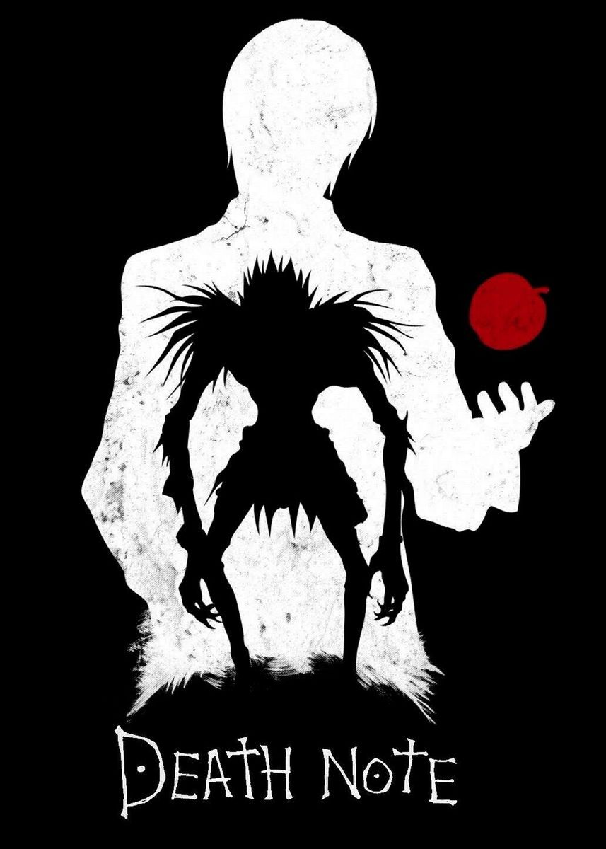 Kira Shinigami Poster Print By Anime Lover Displate In 2020 Death Note Light Death Note Wallpaper Iphone Death Note Fanart